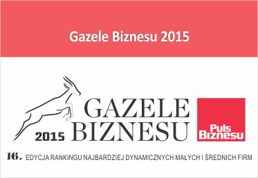 Agraf Gazelą Biznesu 2015