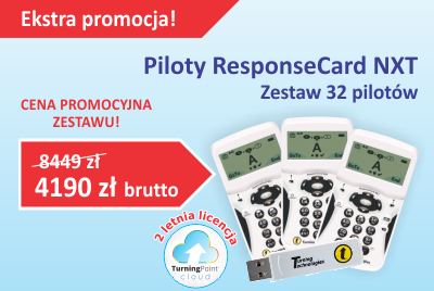 Ekstra Promocja cenowa na piloty do głosowania ResponseCard NXT